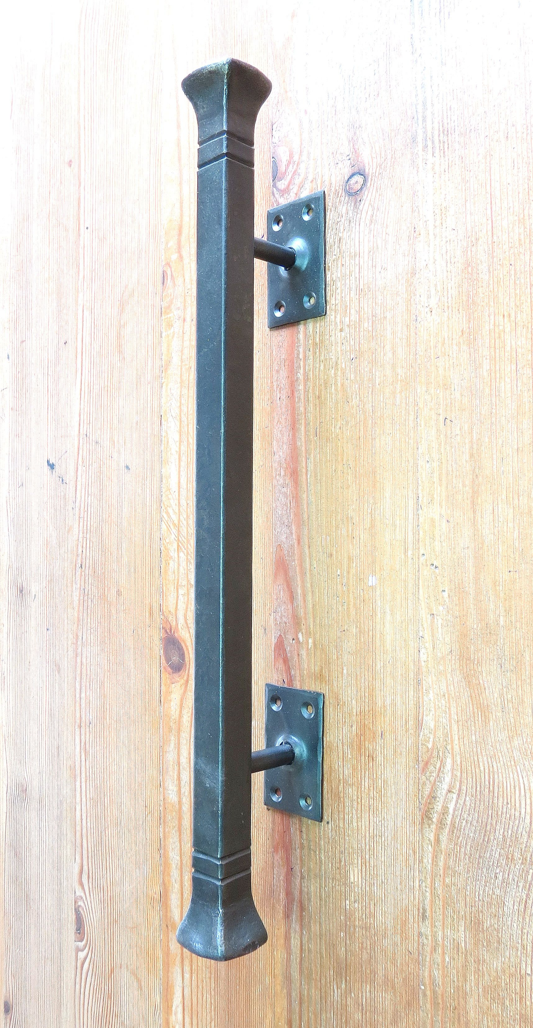 """Entry Door Pull Handles New Entrance Door Push Pull Handle Hand forged solid 16 5"""" 42cm"""