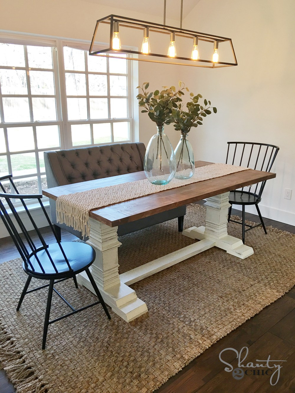 DIY Pedestal Dining Table by Shanty2Chic