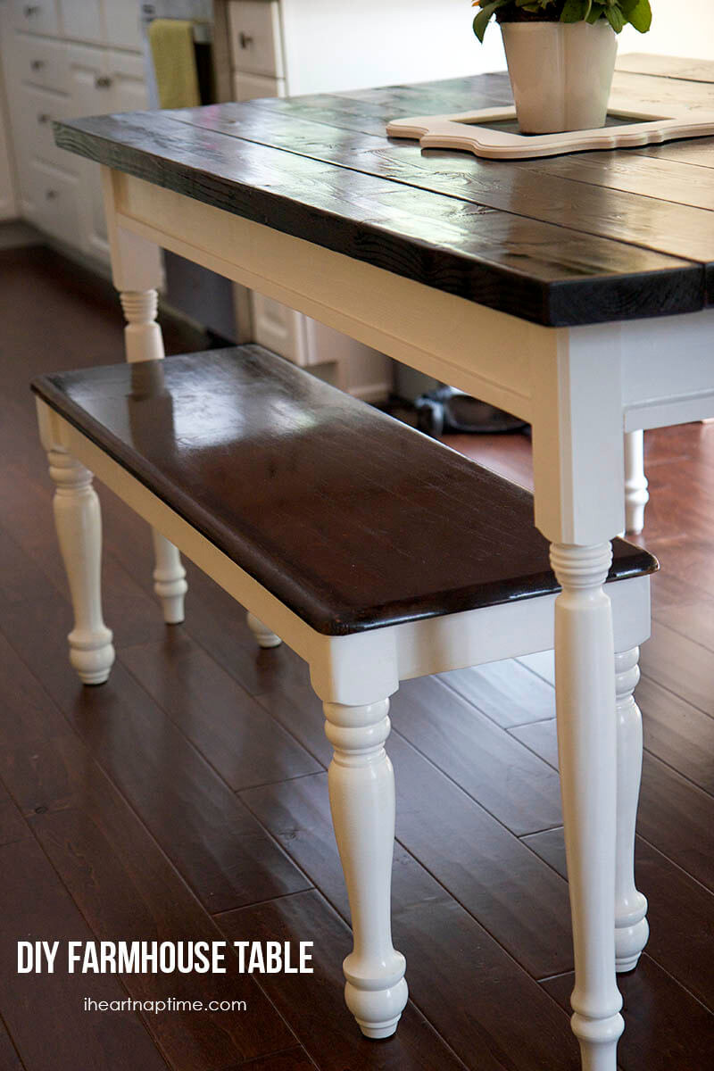 Step by ideas for making farmhouse table and bench