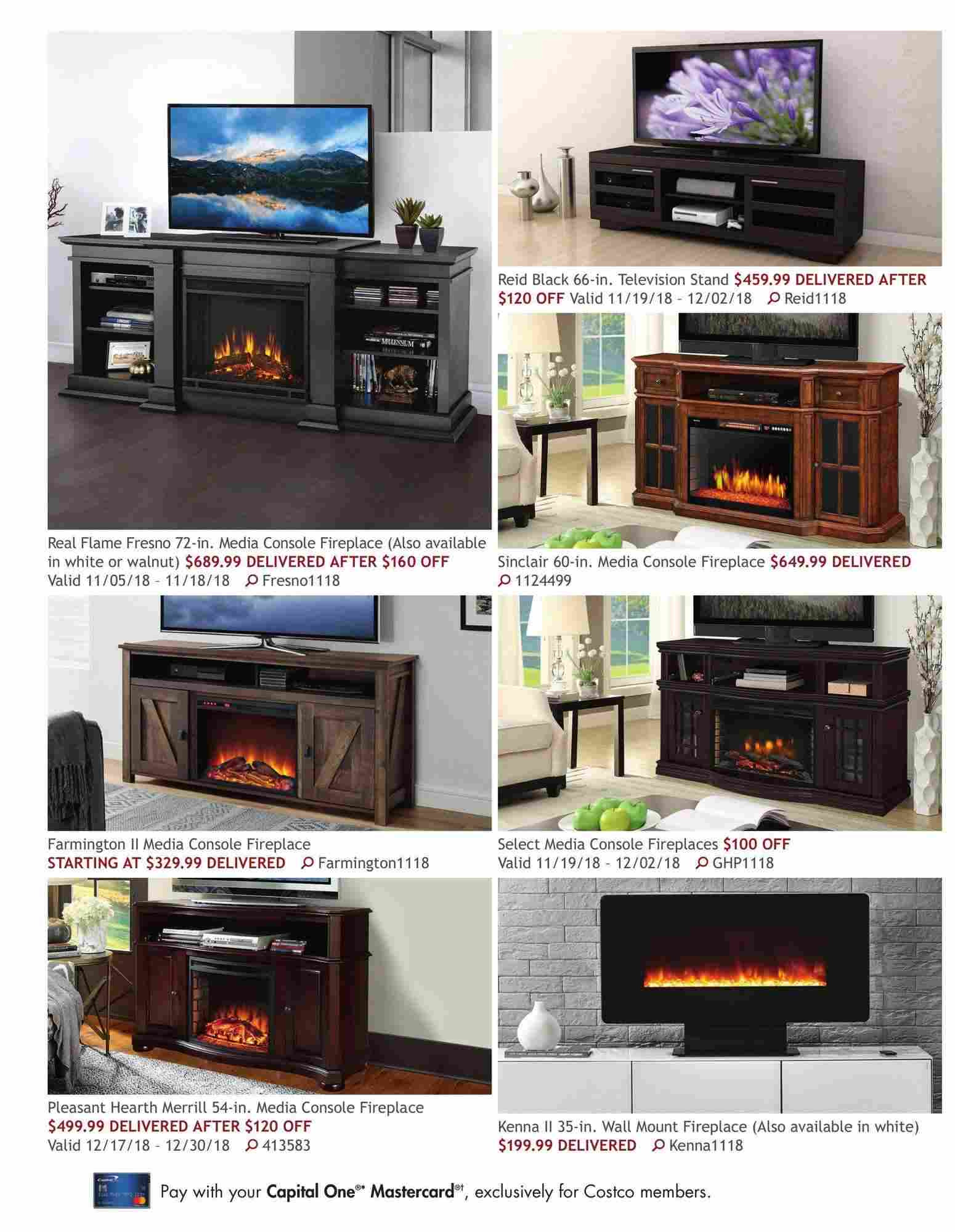 Fireplace Media Console Costco Best Of Costco Flyer On Line November 1 December 31 2018