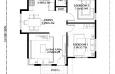 Floor Plans For Small Houses With 2 Bedrooms Inspirational Katrina Stylish Two Bedroom House Plan