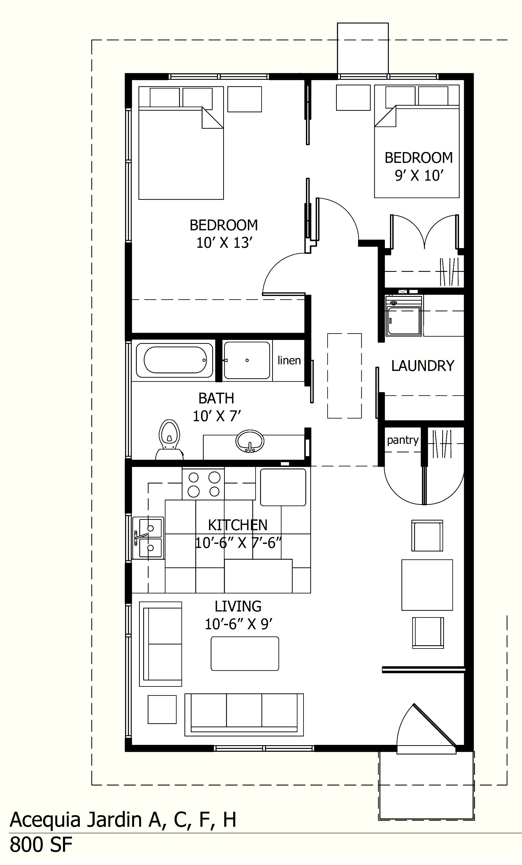 Floor Plans to Add Onto A House New 800 Sq Ft