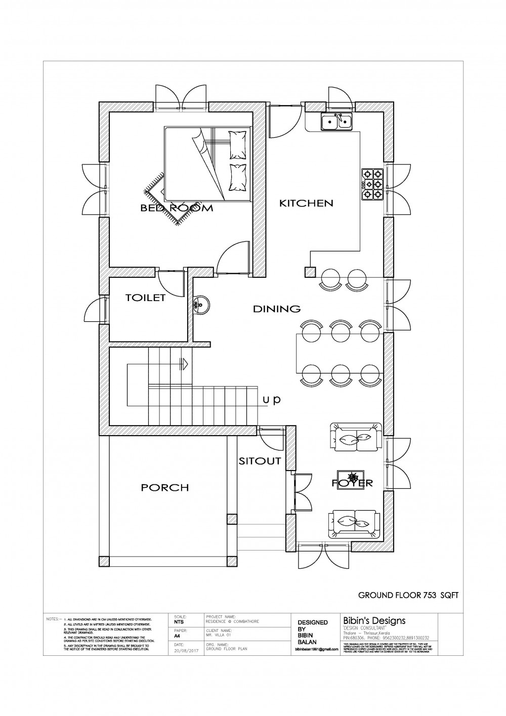 Free House Plans with Photos Luxury Free Kerala 1131 Sq Ft 2 Bedroom Simple House Plan