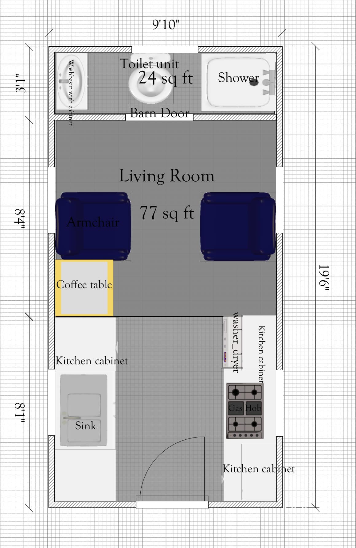 free tiny house plan without loft under 400sq ft