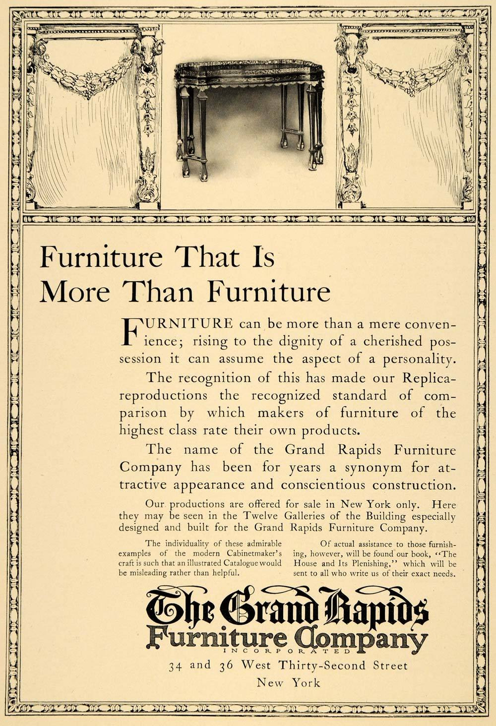 1910 ad furniture table chairs household grand rapids original advertising ins2 354