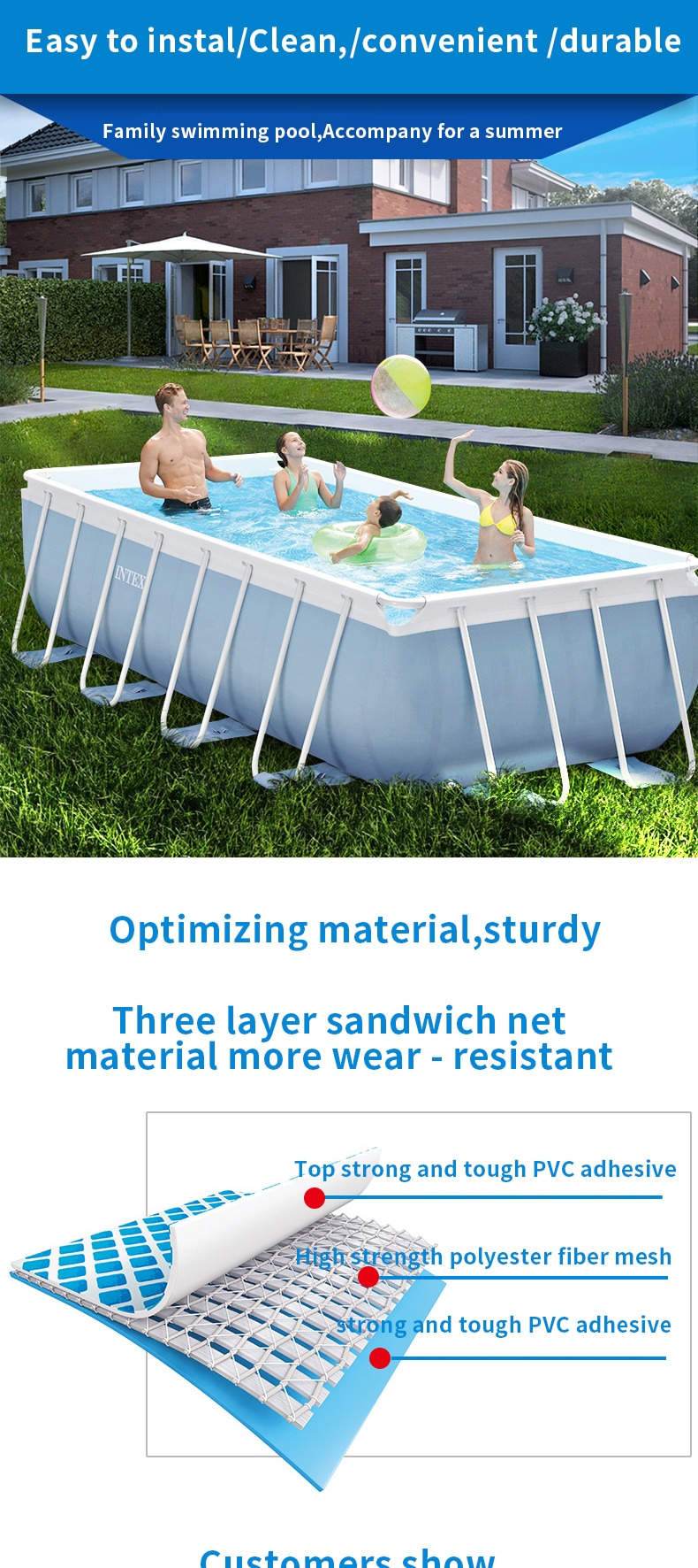 Hard Plastic Swimming Pool with Slide Elegant Intex Brand Swimming Pool Thickening Children S Home Large Pool Collapsible Pool Fish Pond Mercial Adult