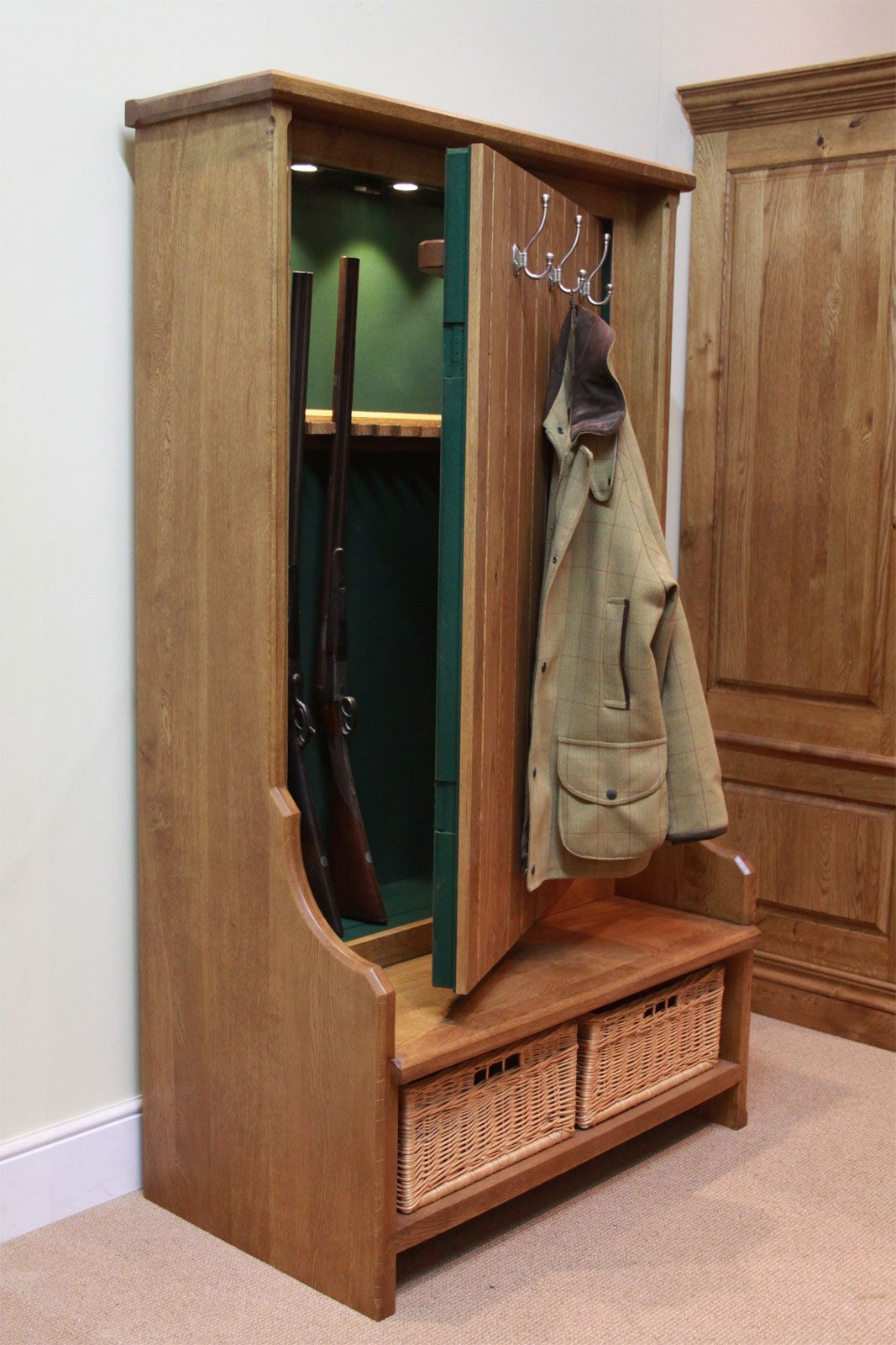Hidden Wood Gun Cabinet Awesome Pin On Gun Bow and Fishing Cabinets and Racks
