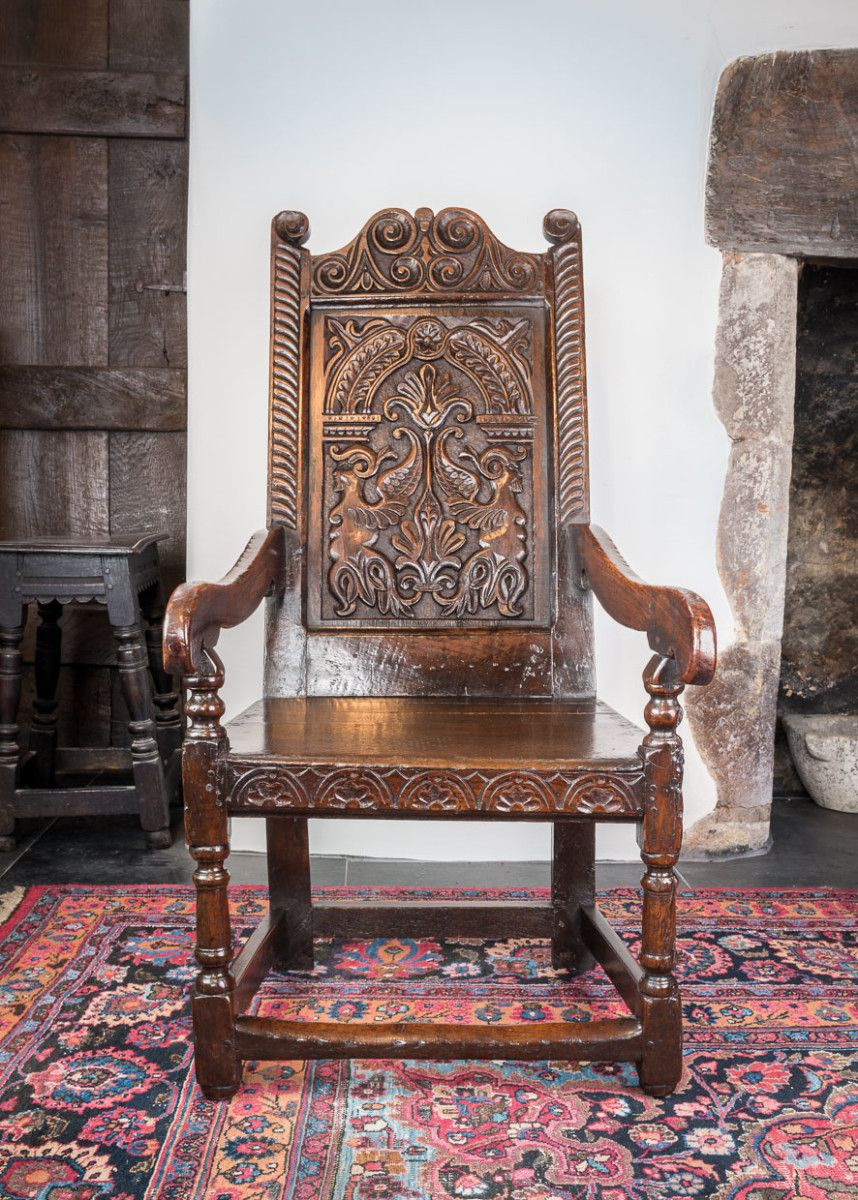 High Quality Antique Furniture Lovely 17th Century Joined Oak Armchair Marhamchurch Antiques