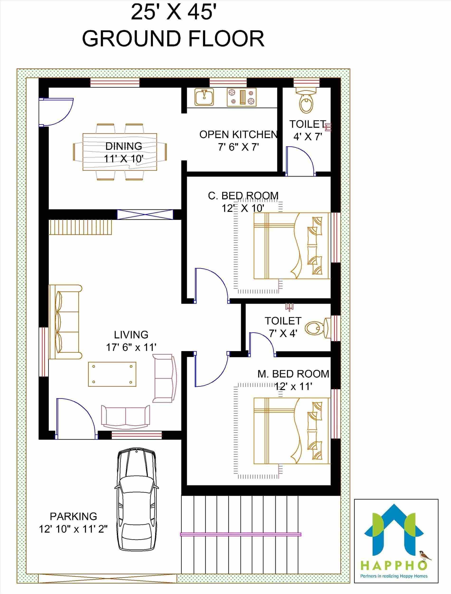 House Designs and Floor Plans In India Fresh 2 Bedroom House Plans Indian Style