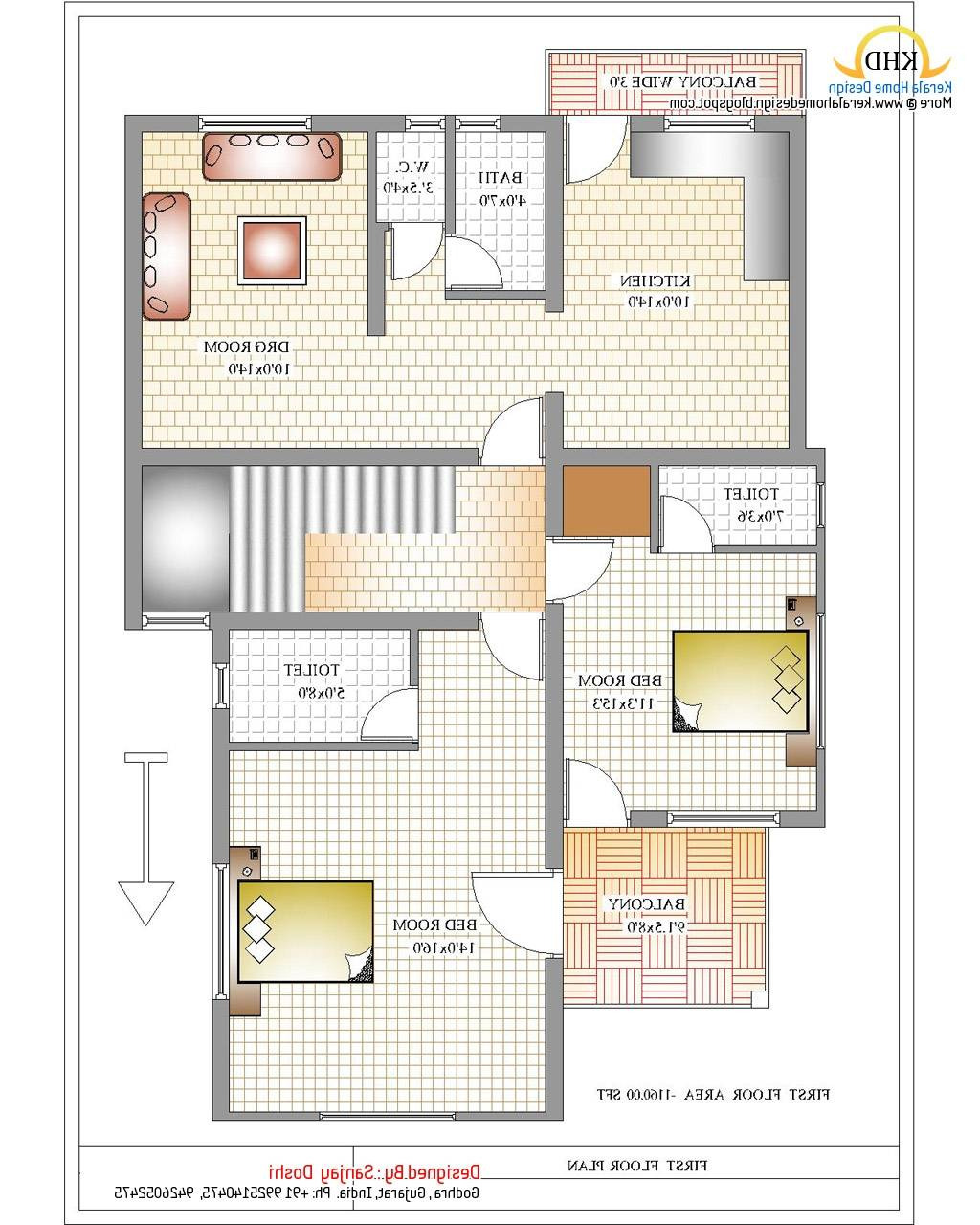 indian house designs floor plans small modern kerala