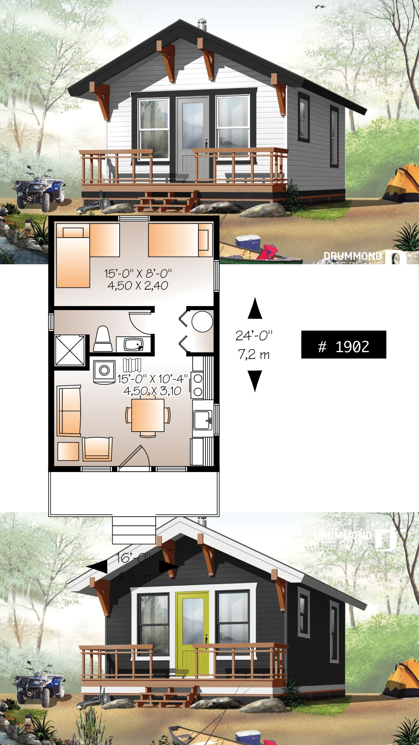 House Plans for Cabins and Small Houses Best Of House Plan Morning Breeze No 1902