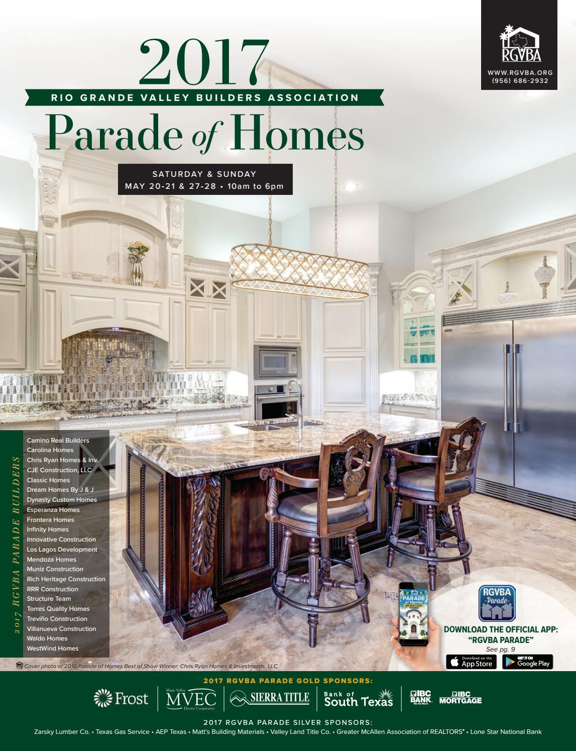 House Plans Mcallen Tx Inspirational 2017 Rgvba Parade Of Homes Guidebook by New Homes south