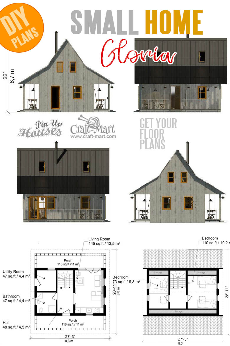 House Plans with Estimated Cost to Build Unique 16 Cutest Small and Tiny Home Plans with Cost to Build