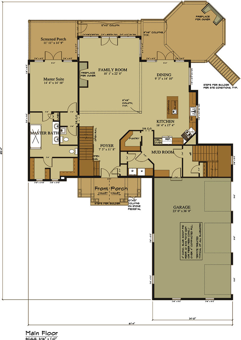 House Plans with Fireplace New 3 Car Garage Lake House Plan Lake Home Designs