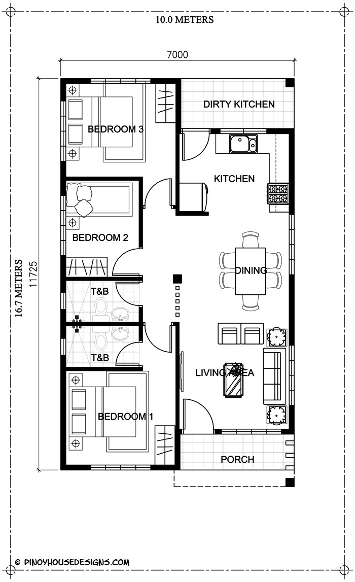 simple 3 bedroom bungalow house design