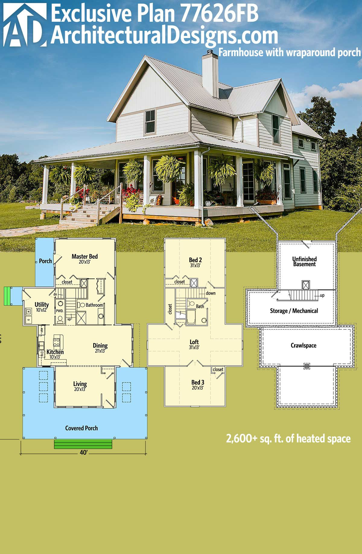 House Plans with Wrap Around Porches 1 Story Fresh Plan Fb Exclusive 3 Bed Farmhouse Plan with Wrap