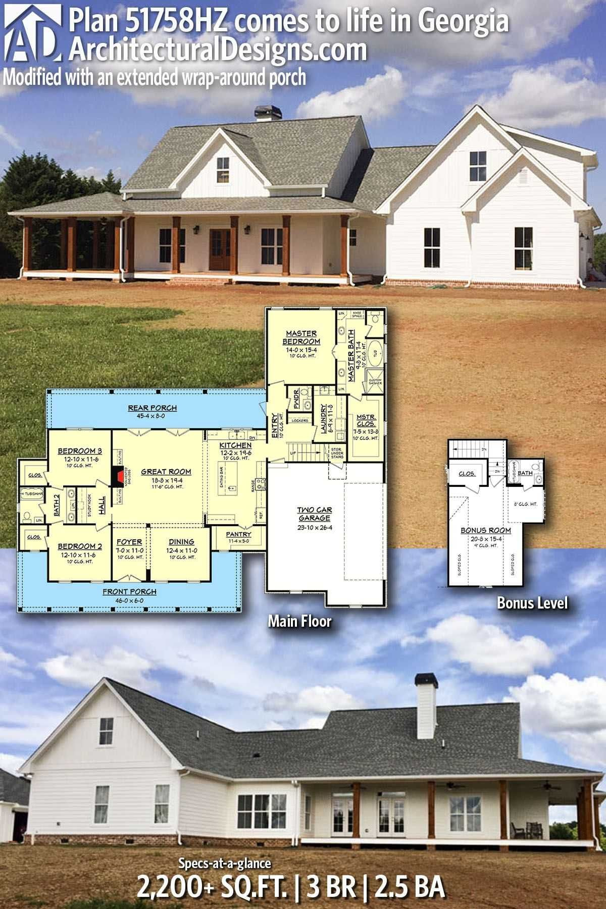 House Plans with Wrap Around Porches 1 Story Lovely Wrap Around Porch Modern One Story Farmhouse Plans Beautiful