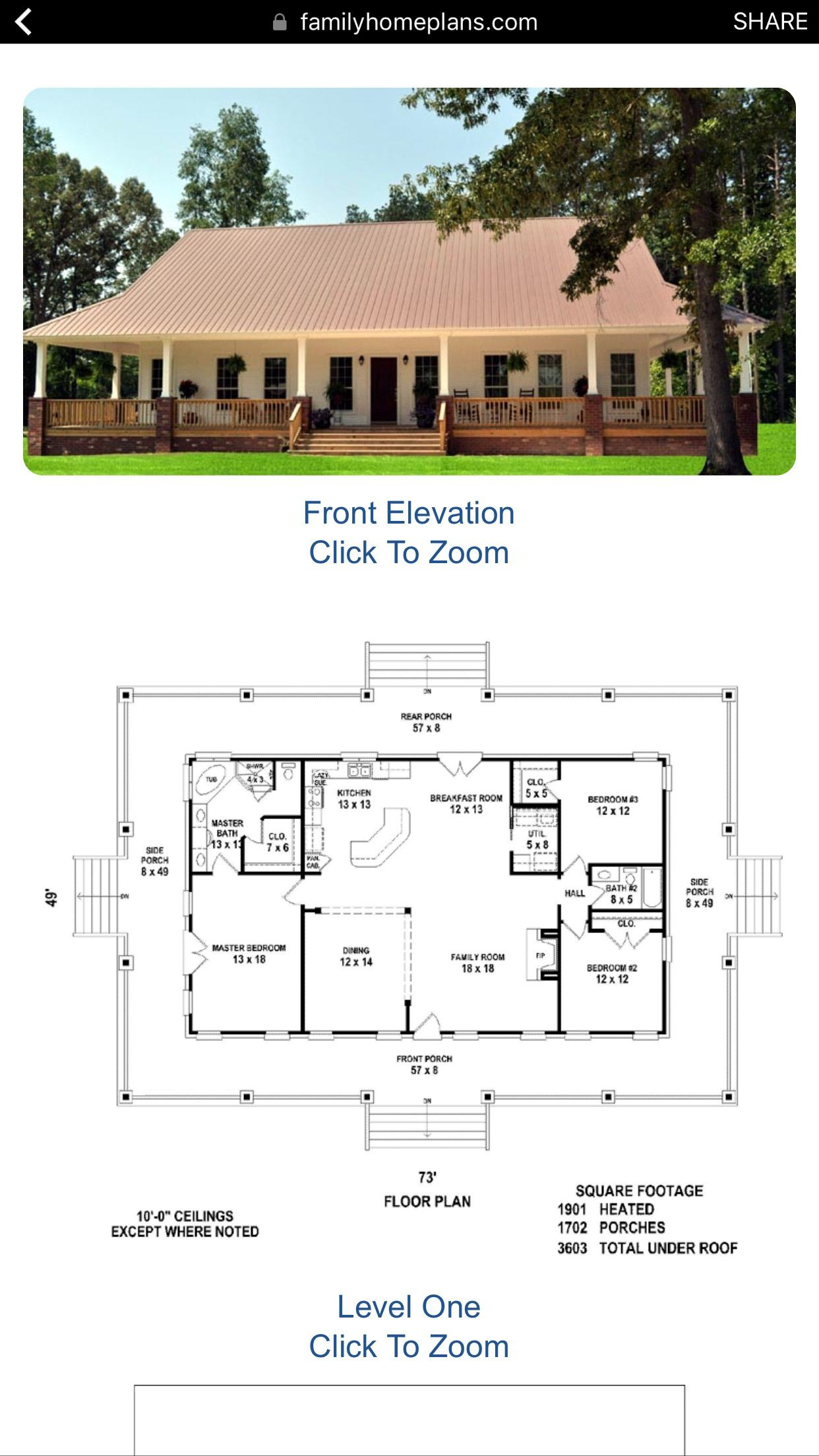 House Plans with Wrap Around Porches 1 Story New Pin On House Plans