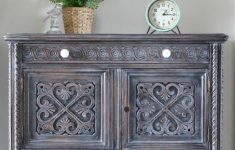 How To Antique Furniture With Glaze Fresh Winter White Antique Cabinet