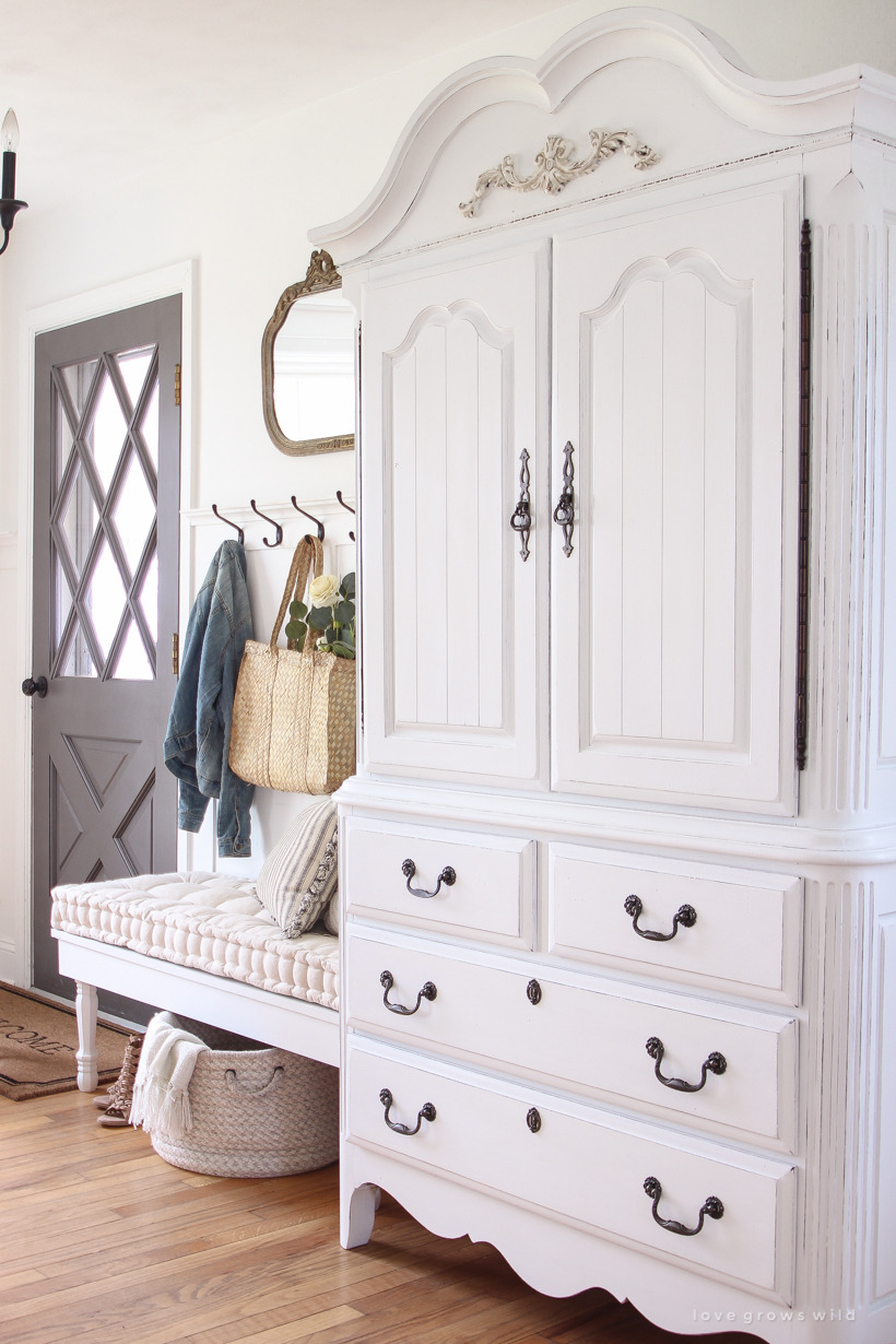 How to Antique Furniture with Paint and Stain Elegant Armoire Makeover How to Antique Furniture Love Grows Wild