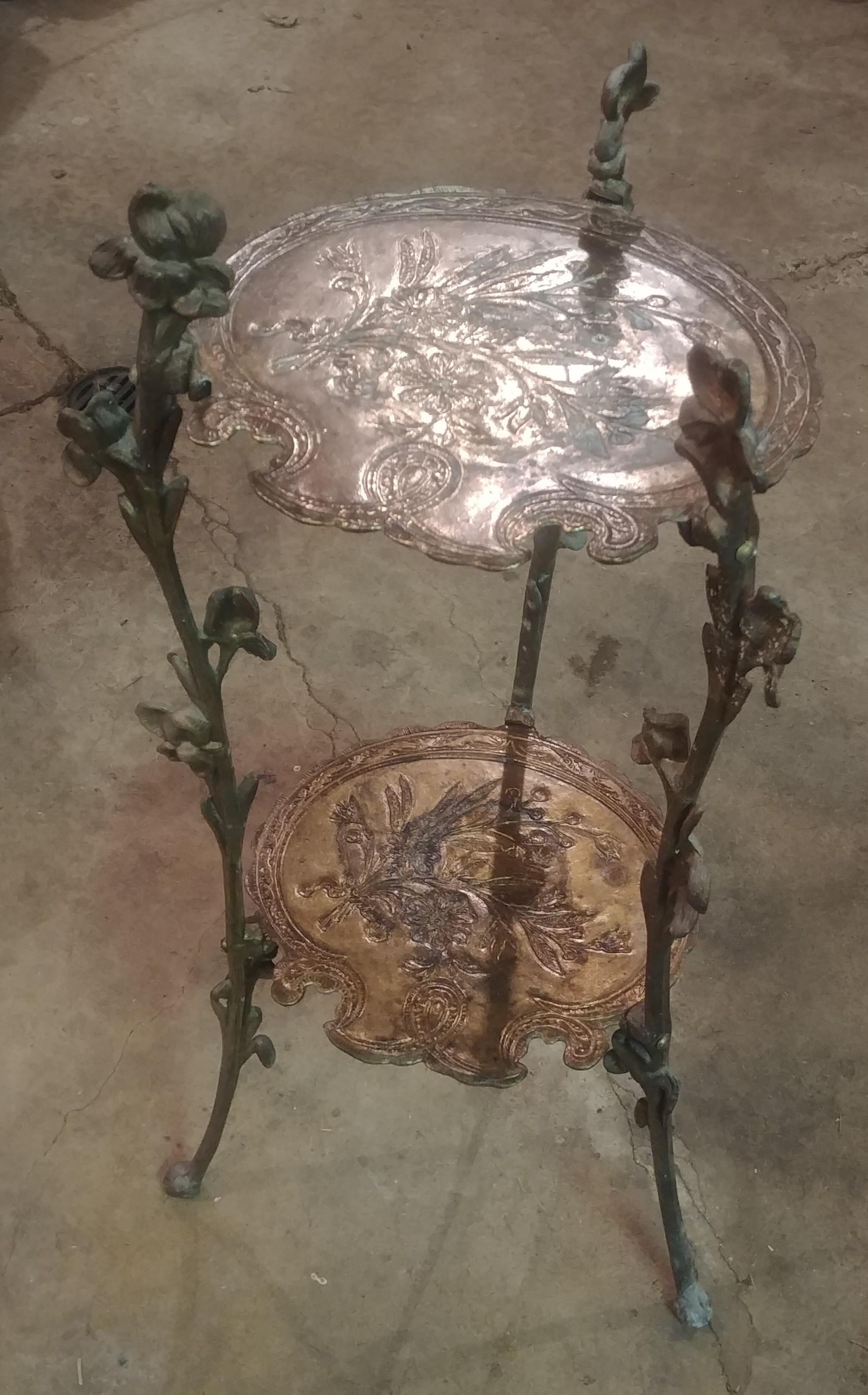 antique brass table thing anyone know anything
