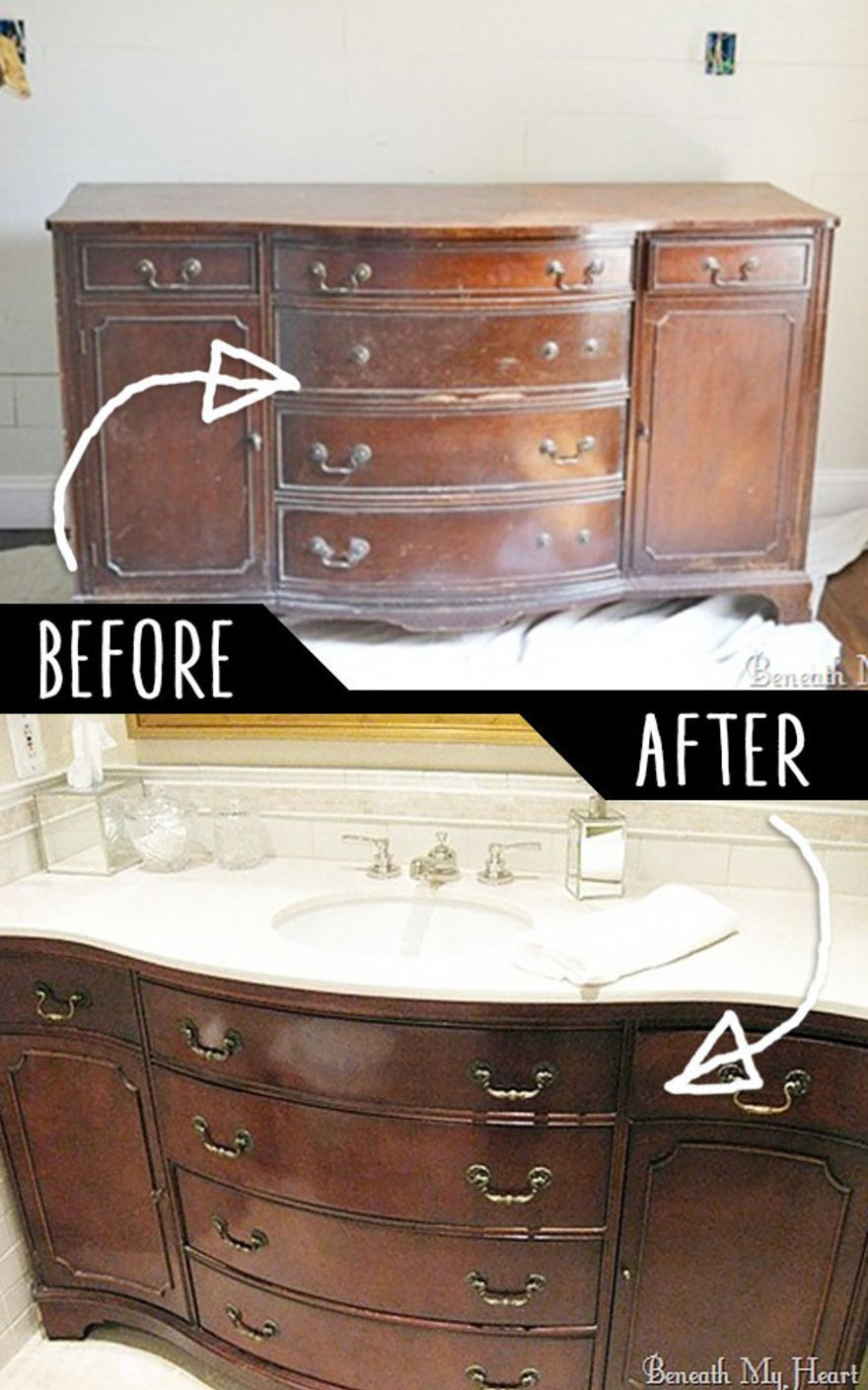 How to Clean Mold Off Antique Wood Furniture Unique 4 Make A Bathroom Vanity Out An Old Dresser