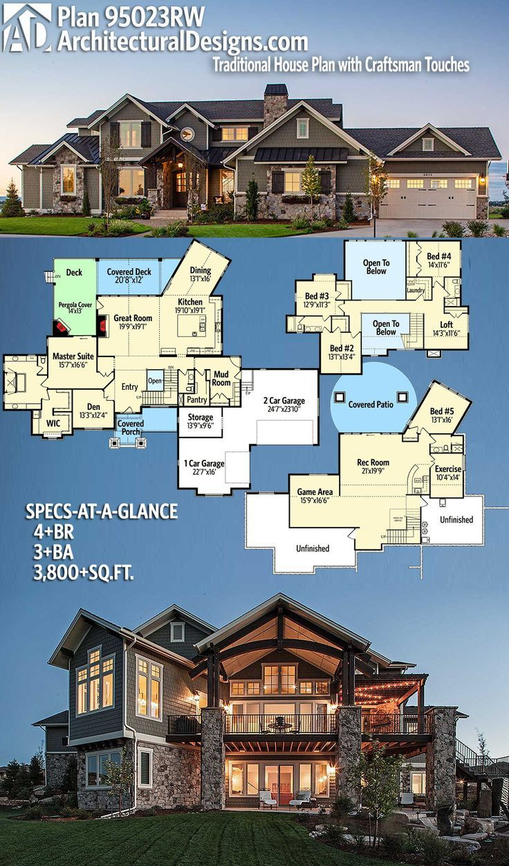 architectural designs house plan rw 4br 3ba 3800sq ft ready when