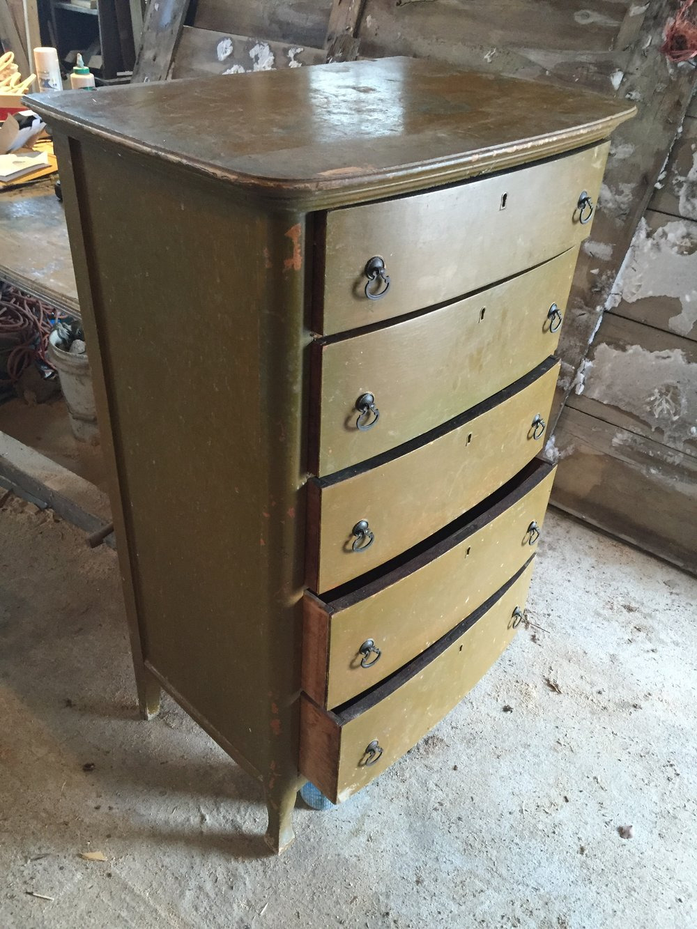 how to restore an antique dresser before