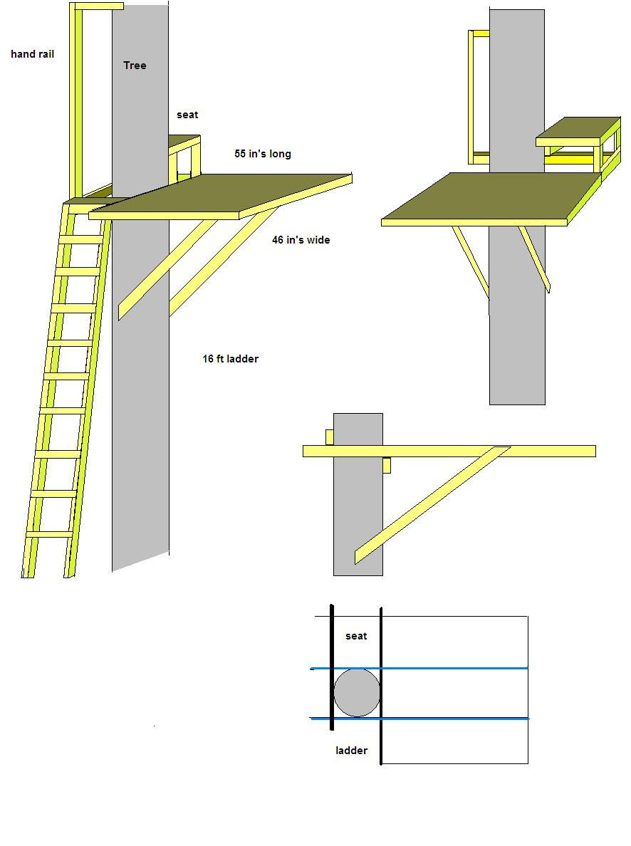 Hunting Tree House Plans Awesome Tree House Plans Free