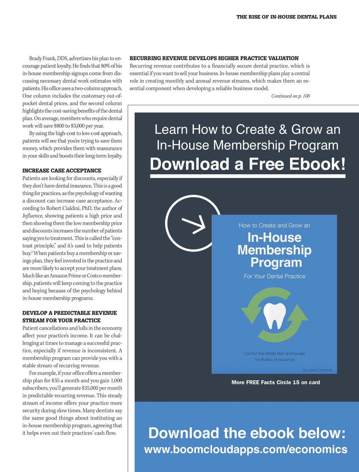In House Dental Insurance Plans Fresh Dental Economics March 2018 Page 30