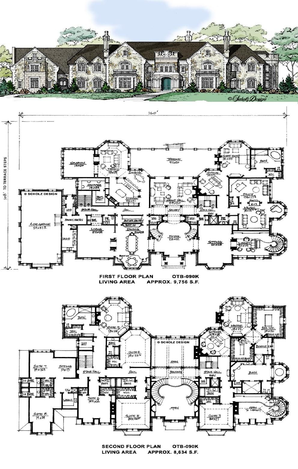 Mansion House Plans 8 Bedrooms Lovely Love the Flowing Symmetry Defined Rooms Including Study