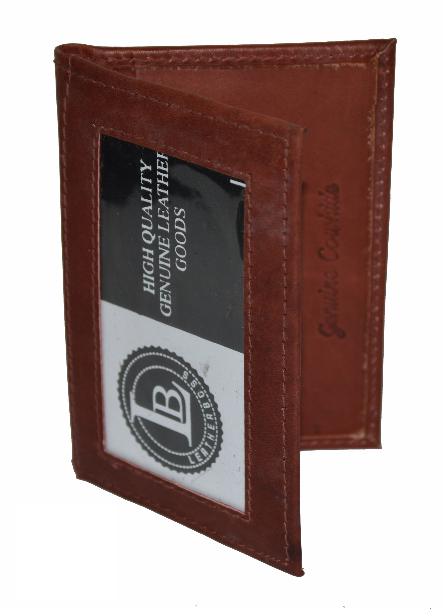 Mens Wallet with Id Window On Outside Elegant Details About Credit Card Id Holder 2 Inside Outside Windows Slim New Genuine Leather
