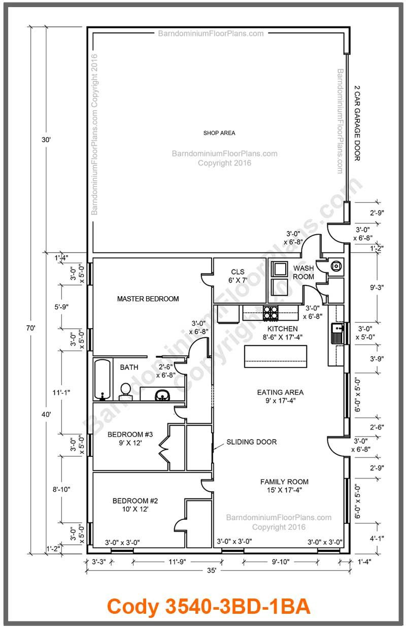 Metal Barn House Floor Plans Beautiful the Cody Features An Open Concept Great Room that Would Be