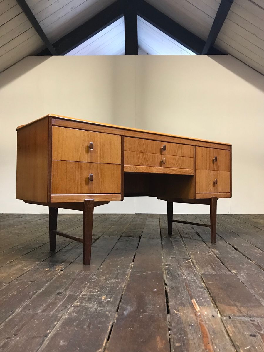 Mid Century Dressing Table Luxury Mid Century Pact Teak Dressing Table From Homeworthy