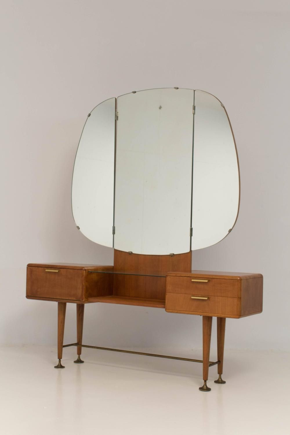 Mid Century Vanity Desk Beautiful Rare Mid Century Modern Vanity or Dressing Table by A A