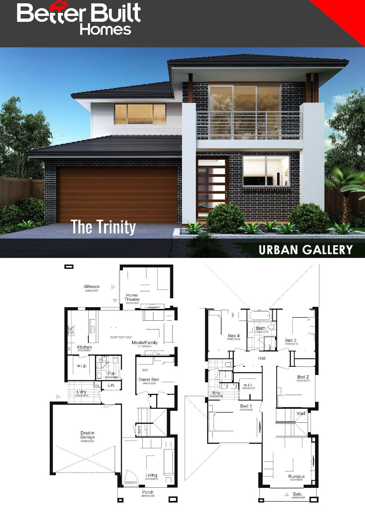 Modern Double Storey House Plans Awesome Trinity 31