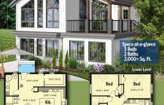 Modern Homes Under 2000 Sq Ft Luxury Plan Dr Modern Vacation Home Plan For The Sloping Lot
