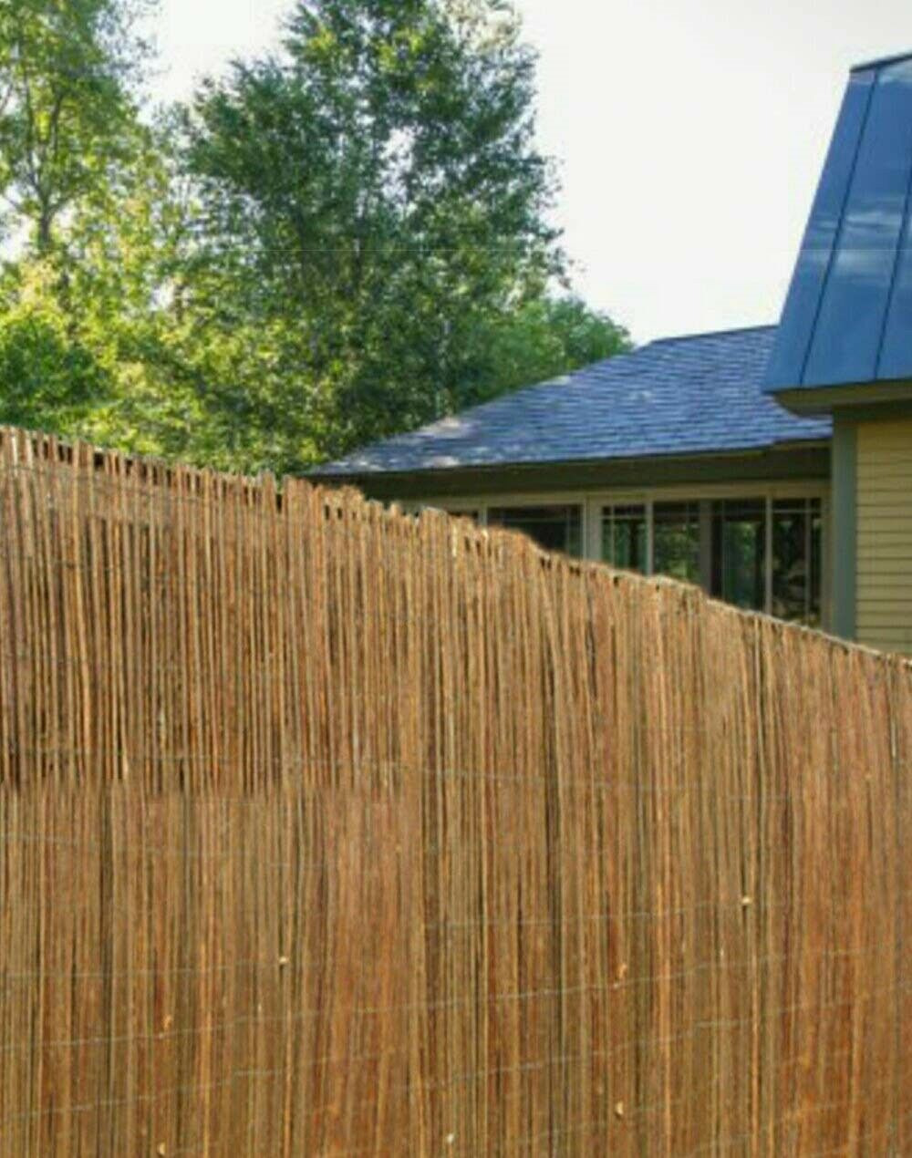 Modified Panel Fence Elegant 4m Natural Peeled Reed Screening Roll Garden Screen Fence Fencing Panel 1x 4m 1