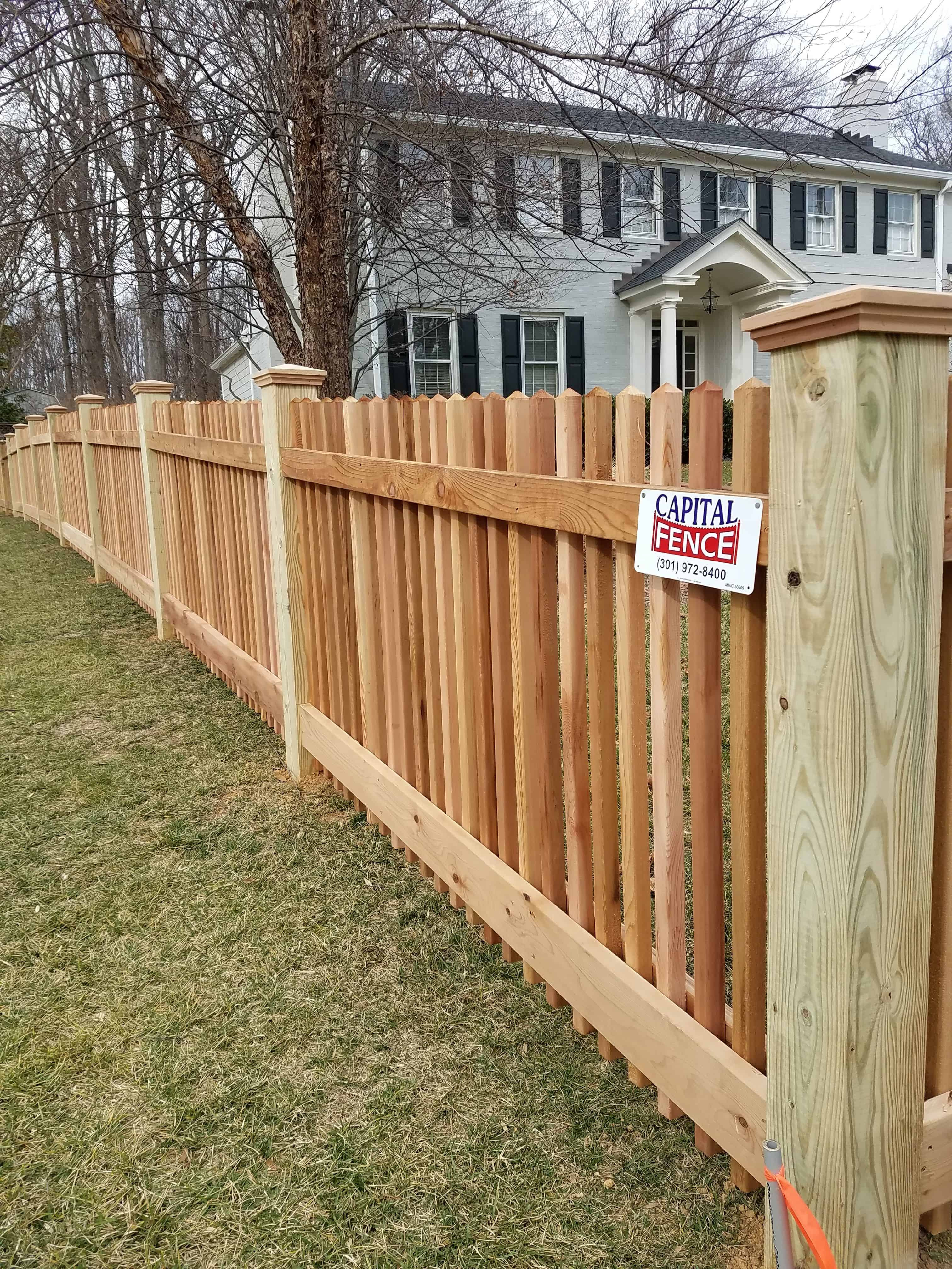 17 SIMPHOME poolesville picket wood fence wood picket fence in 2019 2099