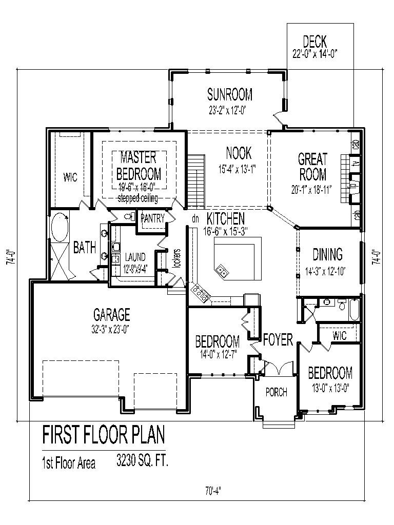 One Bedroom House Plans with Garage Beautiful Tuscan House Floor Plans Single Story 3 Bedroom 2 Bath 2 Car