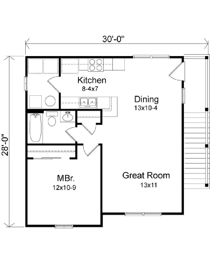 One Bedroom House Plans with Garage Lovely Apartment Floor Plans Further 1 Bedroom Garage Apartment