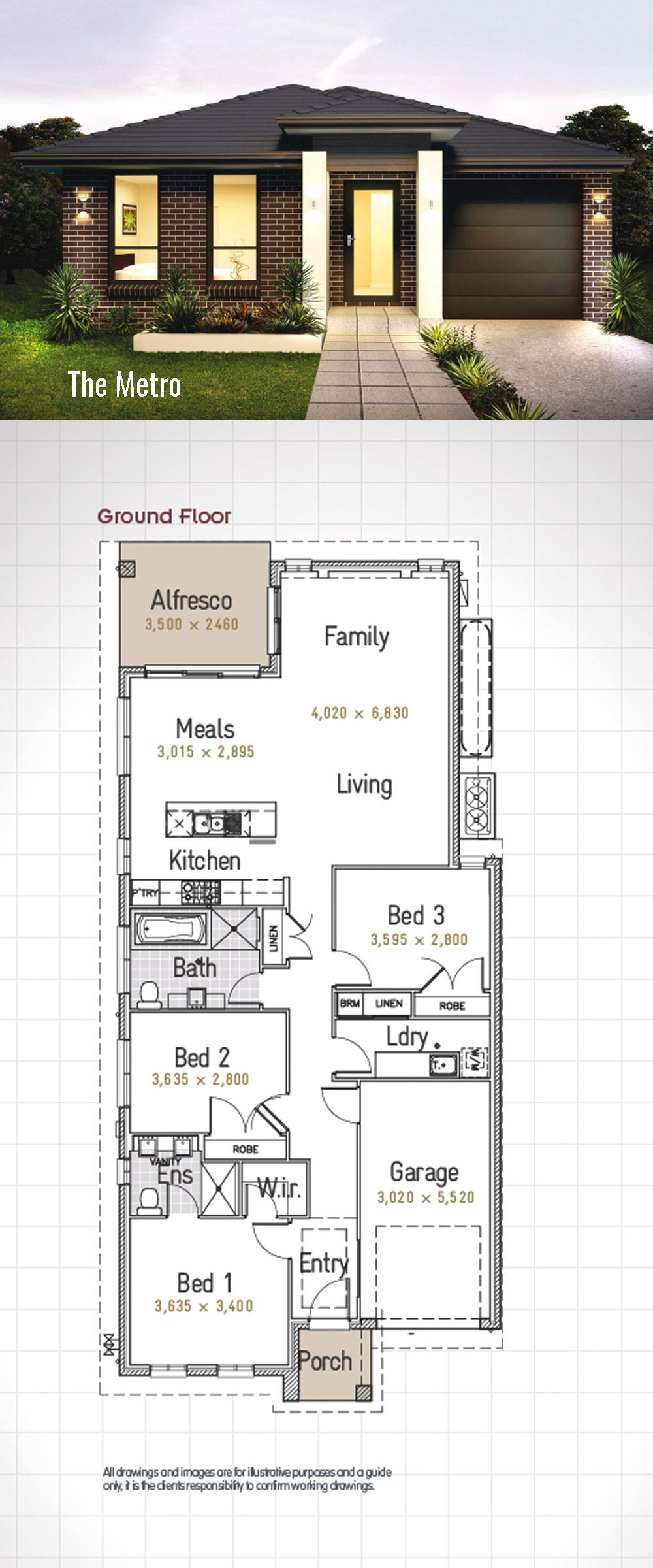 One Bedroom House Plans with Garage New Metro 17