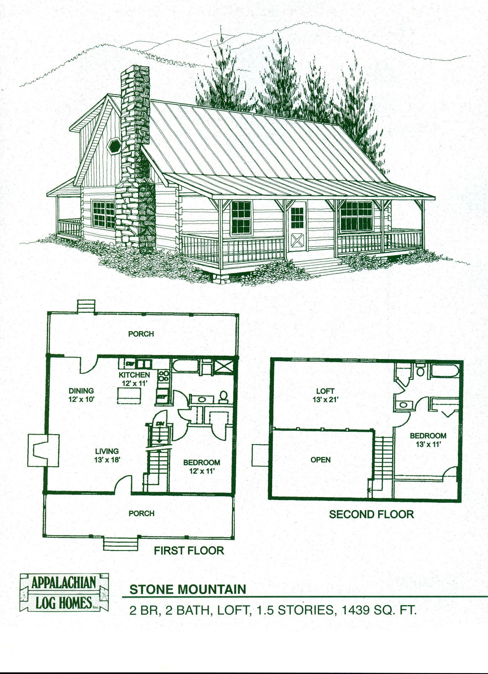 One Story Log House Plans Lovely Cabin Home Plans with Loft