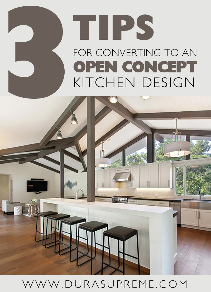 3 tips open concept kitchen