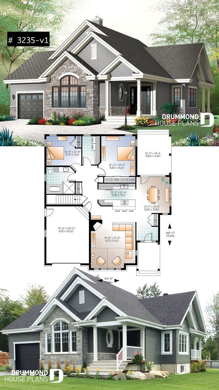 Open Floor Plan House Designs Fresh Ranch Bungalow House Plan with Galley Kitchen Open Floor