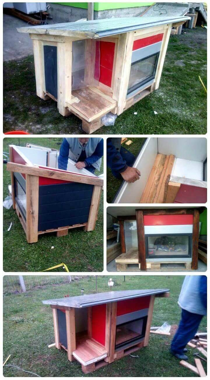 Pallet Dog House – Step by Step DIY Dog House Plan Pallet Projects Pallet Furniture Ideas Pallet Ideas
