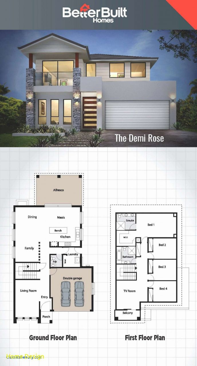 Plan Of Two Storey House Best Of 20 Contemporary House Floor Plan 2016 In 2019