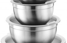 Plastic Bowls Walmart New Premium Various Sizes Stainless Steel Mixing Bowl Set Of 5 With Airtight Lids Flat Base For Stability & Easy Grip Whisking Mixing Beating Bowls