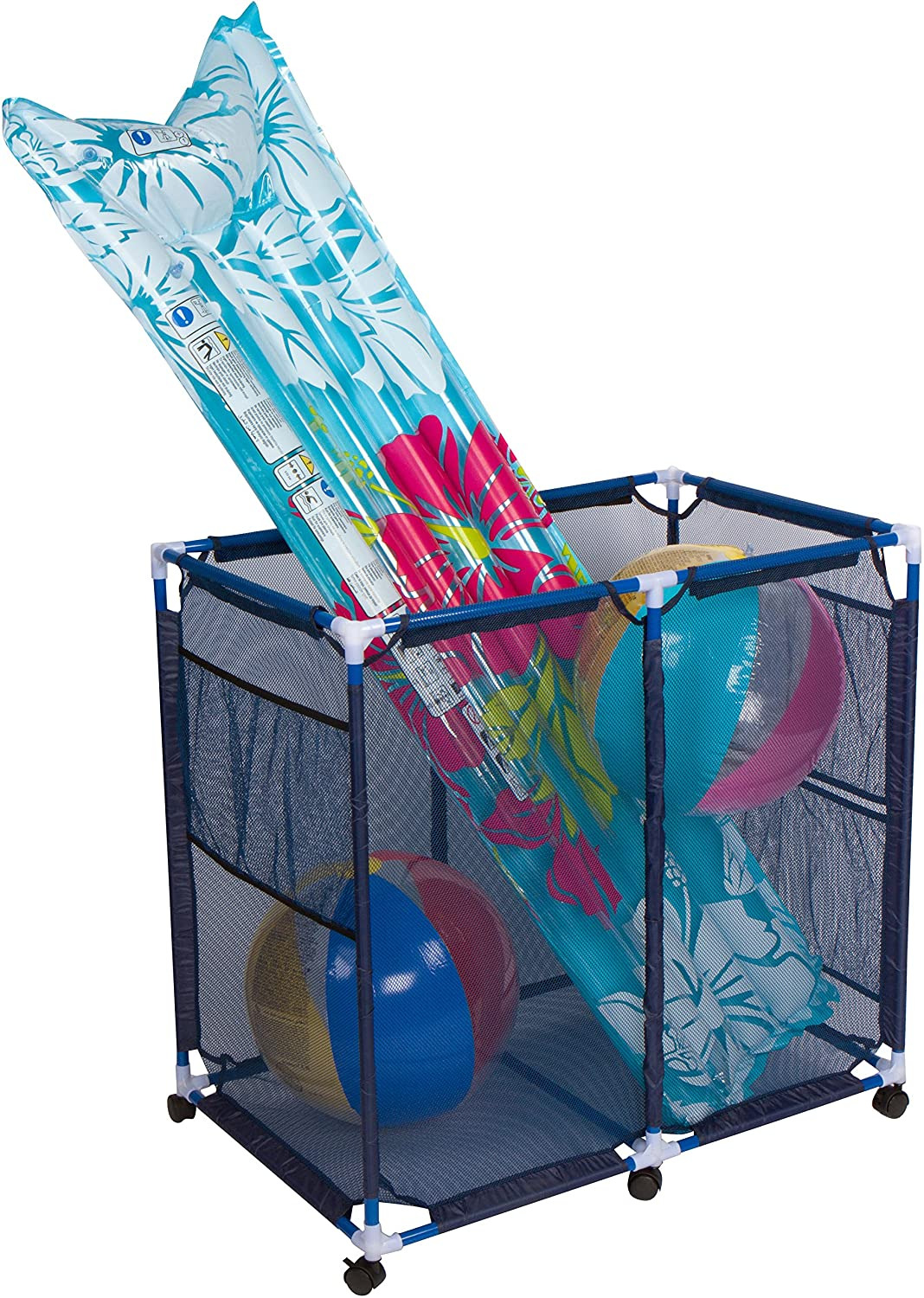 """Pool toy Holder Best Of Trademark Innovations 35"""" X 24"""" Rolling Pool Storage Cart for toys and Accessories"""