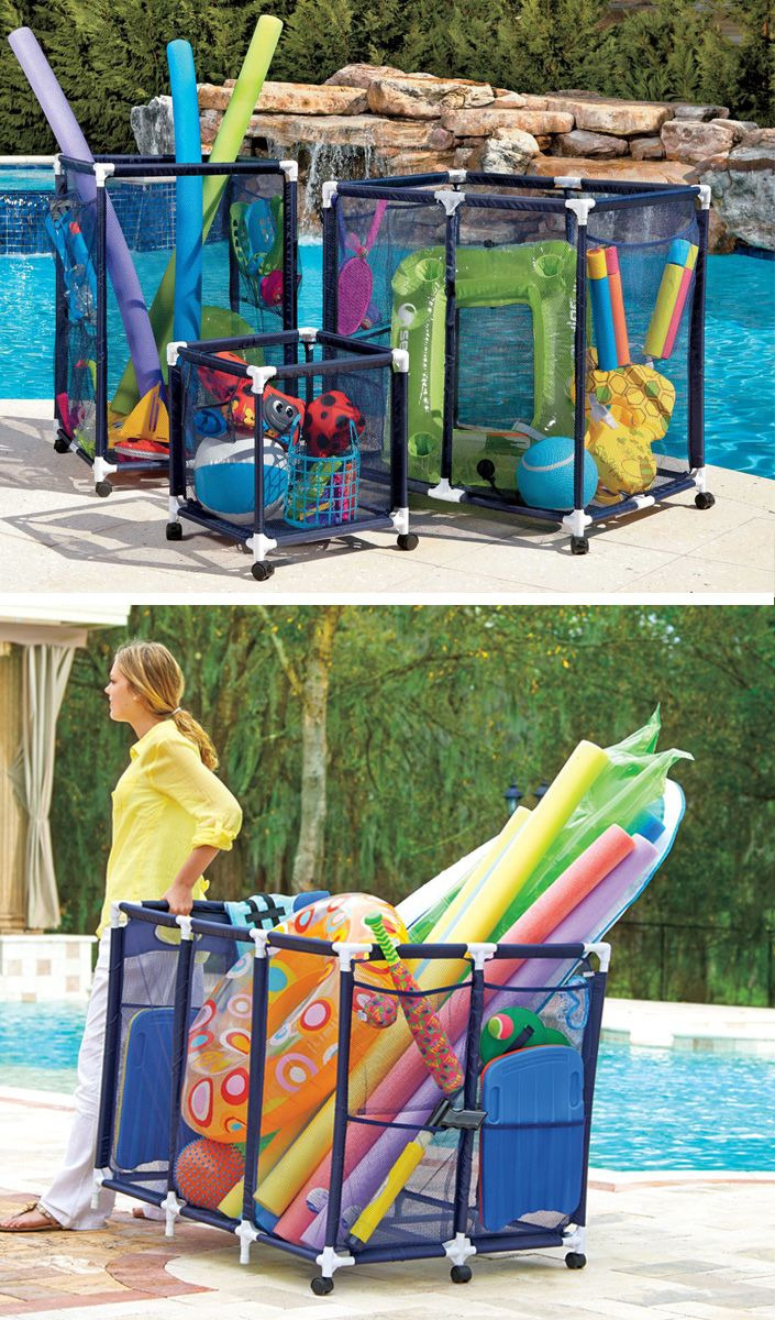 Pool toy Holder Inspirational these Mesh Pool toy Storage Bins are Large Enough to Hold